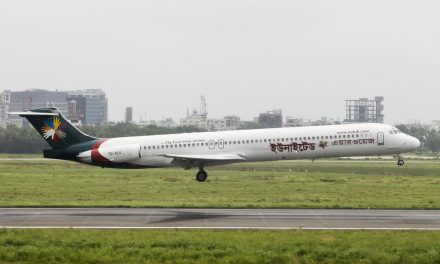 United Airways McDonnell Douglas MD-83 S2-AEU Lands at Dhaka Airport (VGZR/DAC)