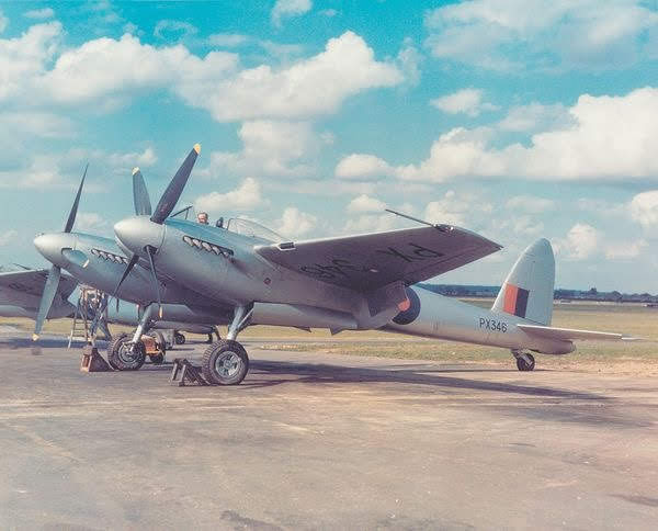 A collection of colour images of the De Havilland Hornet, the successor to the Mosquito that was originally designed…