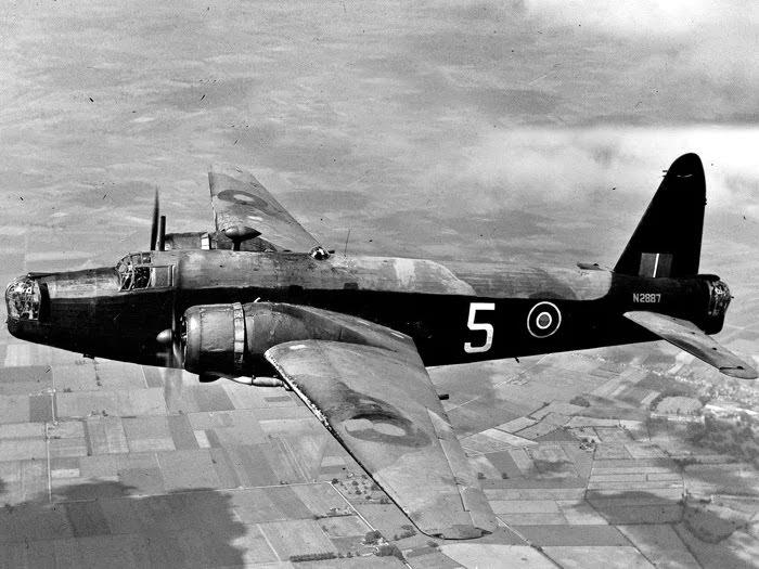 Vickers 'Wellington' medium bomber.
