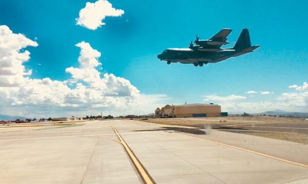 C-130 – touch and goes in ABQ for at least 1 hr today.