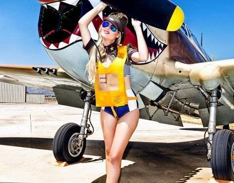 There is a Curtiss P-40 in this photo too!