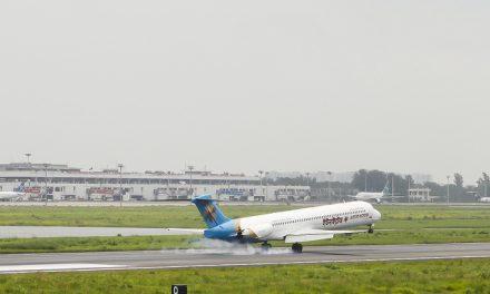 United Airways McDonnell Douglas MD-80 (S2-AFV) Landing at Hazrat Shahjalal International Airport Dhaka (VGHS)
