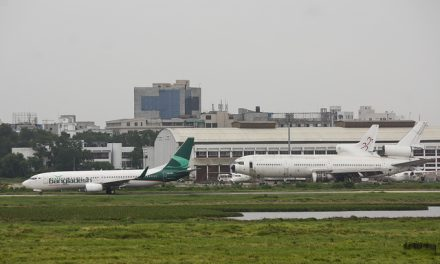 The Bangladesh Biman Boeing 737-800 (S2-AFL) taxiing to the runway with full glory and as former heroes, a scrapped…
