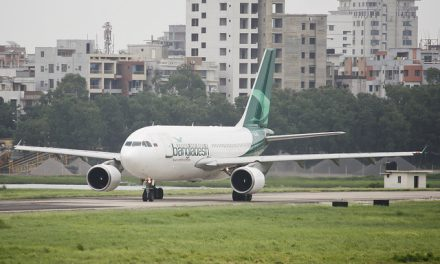 Biman Bangladesh Airlines Airbus A310-325(ET)  (S2-AFT) Taxiing to the runway to take off at Hazrat Shahjalal…