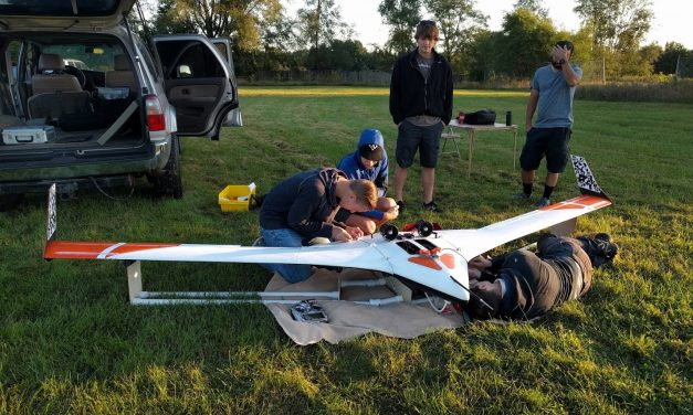 U of MN UAV lab flight test day today.