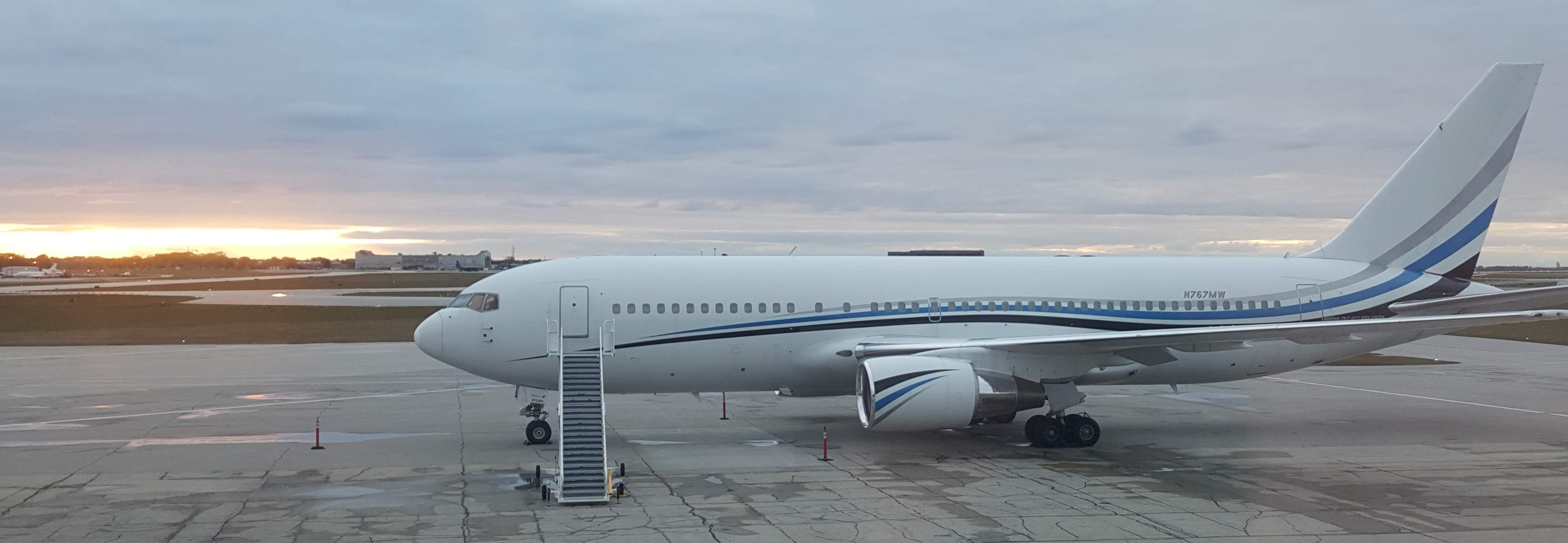 Boeing 767-200 N767MW was in Winnipeg yesterday, I assume bringing the New Jersey Devils to town for the NHL game.