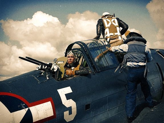 A collection of colour photographs of SBD Dauntless, the best American dive-bomber of WW2, credited with sinking…