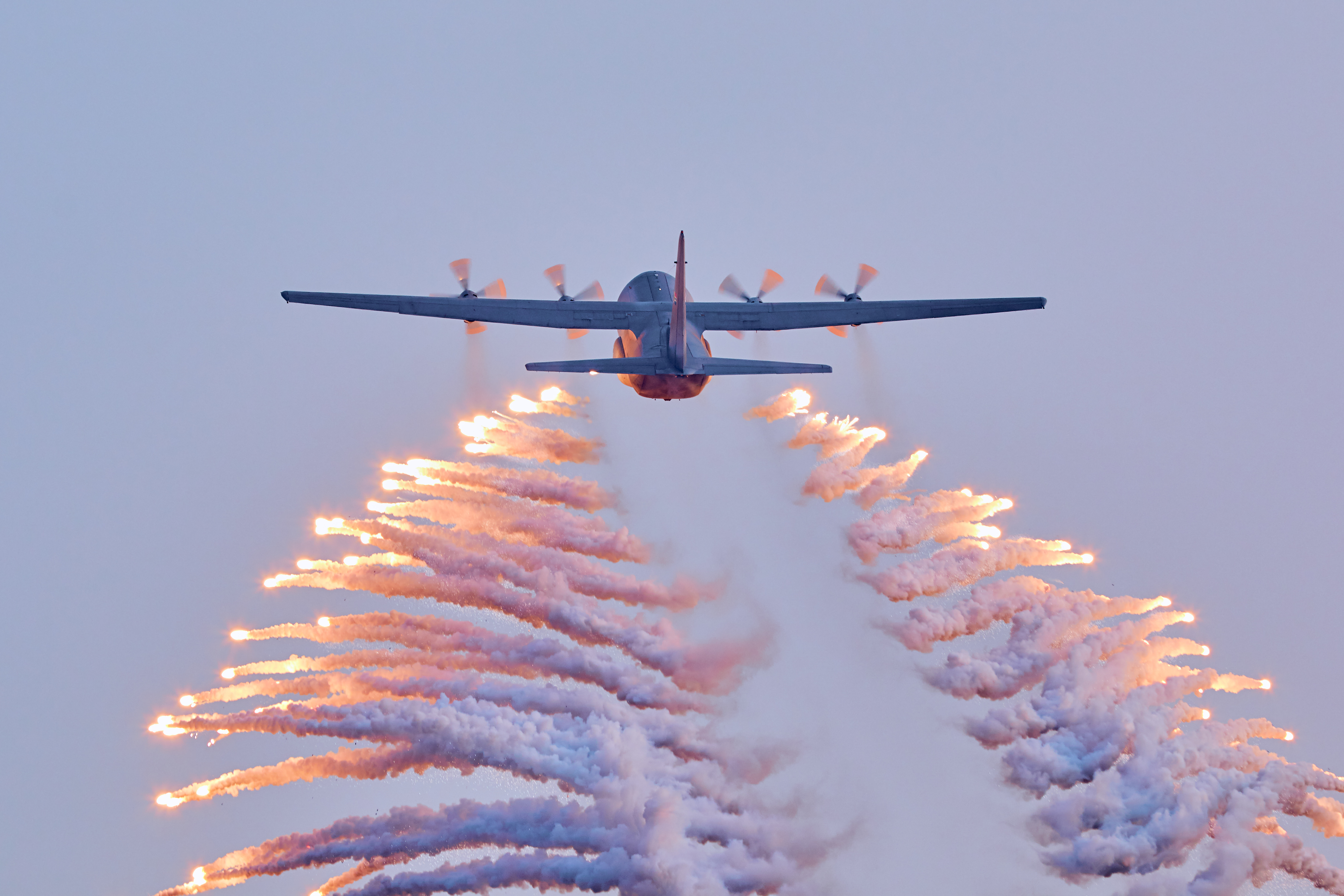 C-130 dropping flares during Waterkloof AAD2018