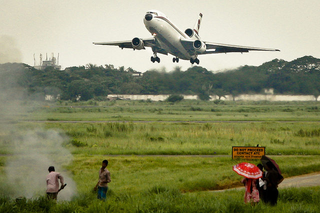Biman Bangladesh Airlines McDonnell Douglas DC-10-30 takes off from Dhaka International Airport – VGHS