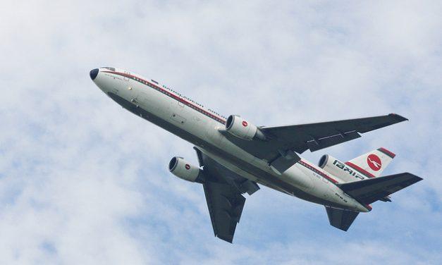 Biman Bangladesh Airlines Biman's McDonnell Douglas DC-10-30 takes off from Dhaka International Airport – VGHS