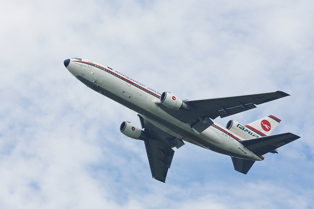 Biman Bangladesh Airlines Biman's McDonnell Douglas DC-10-30 takes off from Dhaka International Airport – VGHS