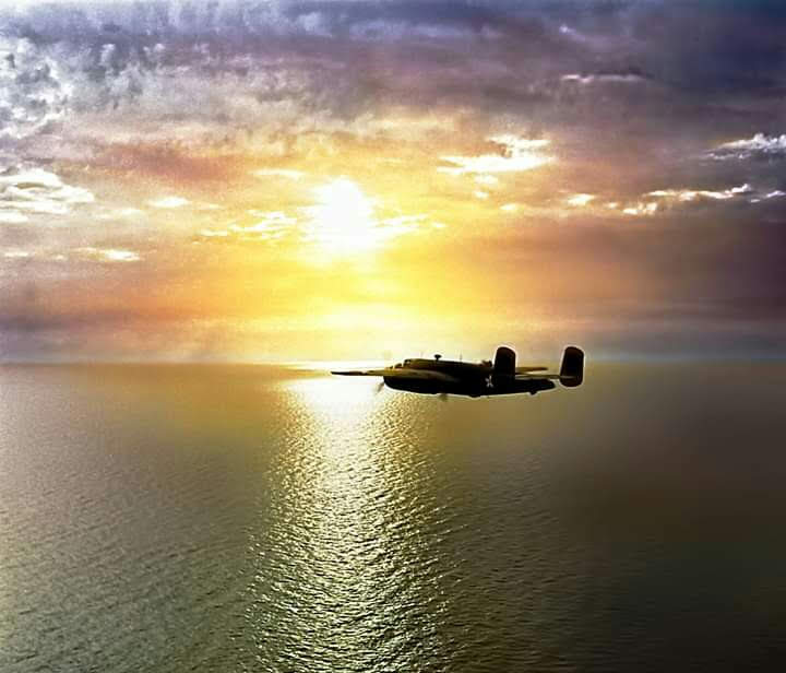 I wanted to share with you a lovely photo with the B-25.