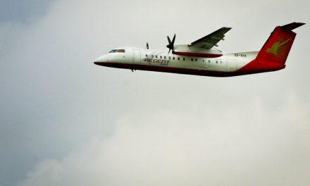 Regent Airways Bombardier Dash 8-Q311 S2-AHA takes off using Runway 14 at Dhaka International Airport – VGZR