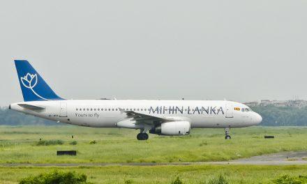Mihin Lanka Airbus A320-232 ( 4R-MRB ) taxiing at Hazrat Shahjalal International Airport, Dhaka – VGZR