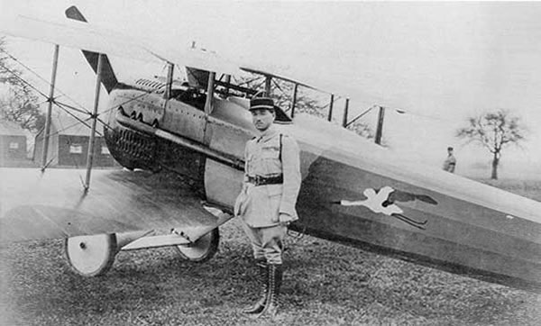 Spad XIII of Rene FONCK . Top Allied ACE with 75 confirmed victories. WW1.