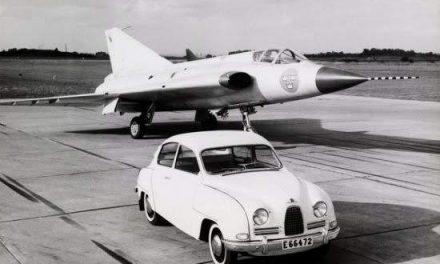Saab Draken and a Saab 93.