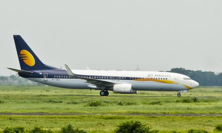 Jet Airways Boeing 737-85R ( VT-JGU ) taxiing at Hazrat Shahjalal International Airport, Dhaka – VGZR