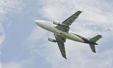 Biman Bangladesh Airlines  Airbus A310-325(ET) S2-AFT roars to the clouds after taking off from Hazrat Shahjalal…